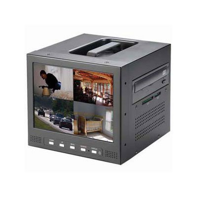 Video Recorder 250gb Hard Drive - TSM CCTV-LR804J01 w/250GB Hard Drive 4 Channel Mini dvr w/8 LCD