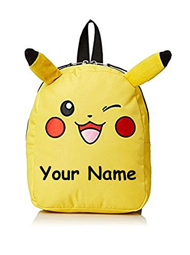 Personalized Pokemon Pikachu Backpack with Ears - 10 Inch