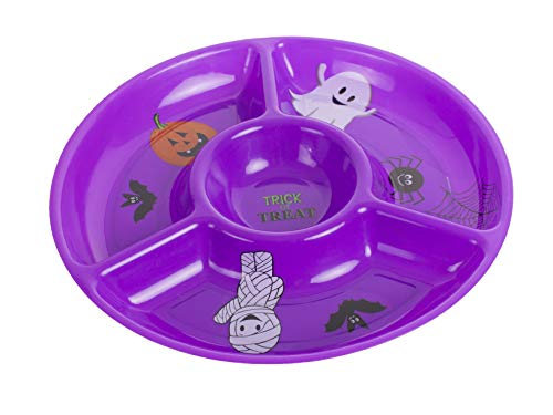 Fun World Sectioned Halloween Party Dip Platter Serving