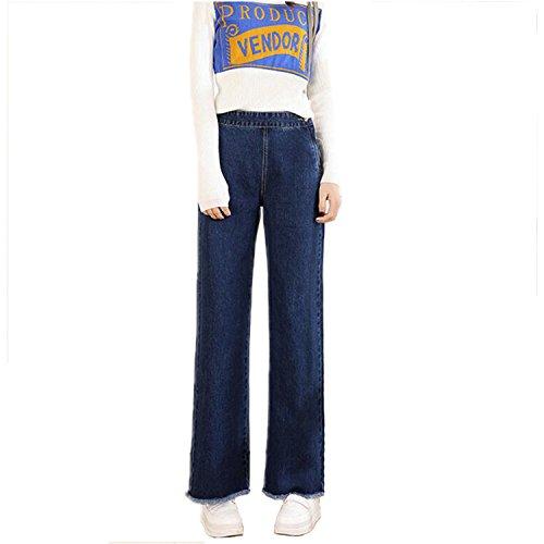 Dimensioni Vita Sciolto Più Denim Cotone 2018 Jean Casual Blue Oversize Pantaloni Corea In Donna Alta Ladie Style A Auspiciousi B7pTqwxXp