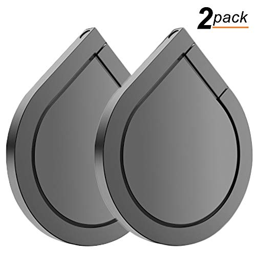 Phone Ring Holder, 2PCS Full-Metal 360° Rotation Phone Grip Kickstand Work on Magnetic Car Holder Universal Finger Ring Stand for iPhone 8 7 7 Plus 6S 6 5 5S, Samsung Galaxy and iPads (Space Grey)