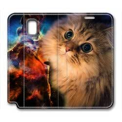Samsung Galaxy note3 leather case,The cat photo Custom design high-grade leather, leather feel will never fade