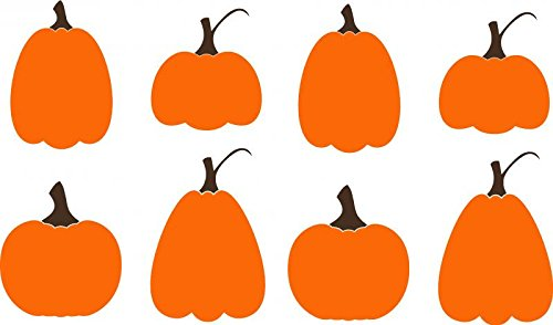 Enchantingly Elegant Pumpkins Halloween Fall Harvest Decor Vinyl Decal Wall Sticker Art Words Letters -
