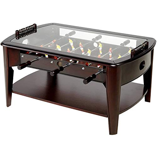 Aromzen 42 Inch Wooden Foosball Coffee Table