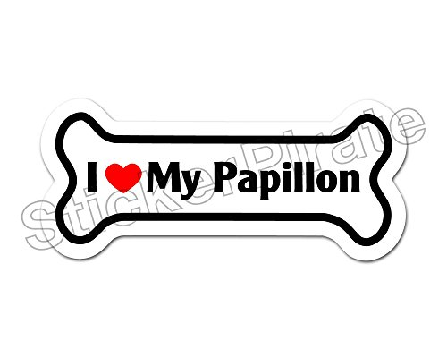 - Dog Bone Magnet I Love My Papillon Car Truck Locker Magnet