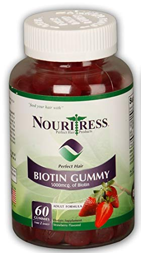 NouriTress Perfect Hair Biotin Gummies 5000 60ct.