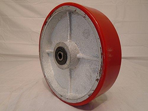 8'' X 2'' Heavy Duty Polyurethane Caster Wheel Steel Hub Roller Bearing & 1/2'' Bushing 1400 Lb