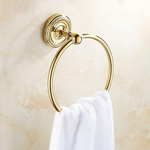 Towel Rack golden Polished Brass Towel Rings Wall Mounted Bathroom Accessories Towel Shelf 07TR Bathroom Towel Shelf