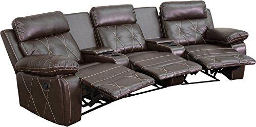 Zuffa Home Furniture Reclining Brown Theater Seats