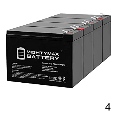 Mighty Max Battery 12V 10AH Currie eZip Trailz Electric Bike Battery - 4 Pack Brand Product : Sports & Outdoors