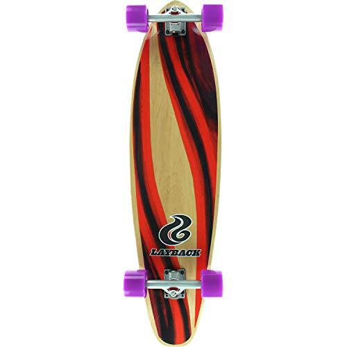 Layback Longboards Yin Yang Kicktail Complete Longboard Skateboard - 9.75