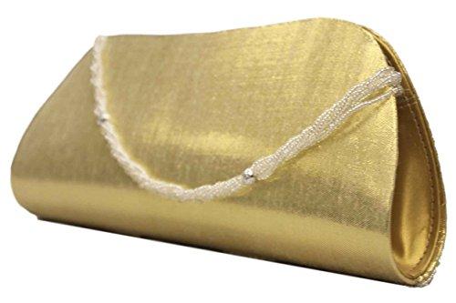 Mehya - Cartera de mano para mujer dorado dorado
