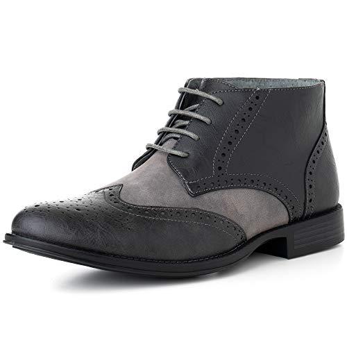b8c528226 Alpine Swiss Geneva Men s Ankle Boots Brogue Wing Tip Dress Shoes Gray 13 M  US