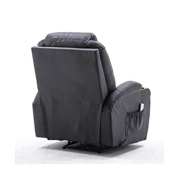 Mcombo Poltrona Massaggiante Elettrica Con Funzione Reclinabile E Di Riscaldamento Modello 7061 Sediaperufficio It