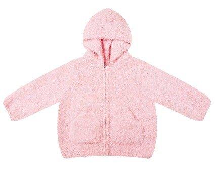Angel Dear Baby Girls' Fleece Zip Hoodie - Pretty Pink - 6 Months