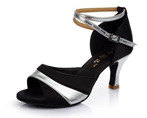 Latines Gold 35 Color Dans Latin Carré Danse À Tmkoo Nouvelles Hauts Avec Les Fond Talons amp; Chaussures De Des Mou Argent Adultes Femmes Taille CBwxR7q