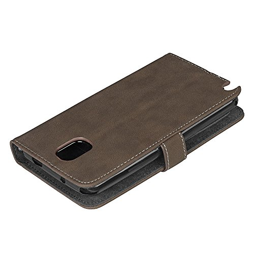 Galaxy Note 3 Flip Wallet Case, Samsung Galaxy Note 3 Case Leather [Cash and 9 Card Slots], BONROY® Retro Premium PU Leather Stand Flip Phone Case with Magnetic Card Slot Holder Wallet Book Design For brown
