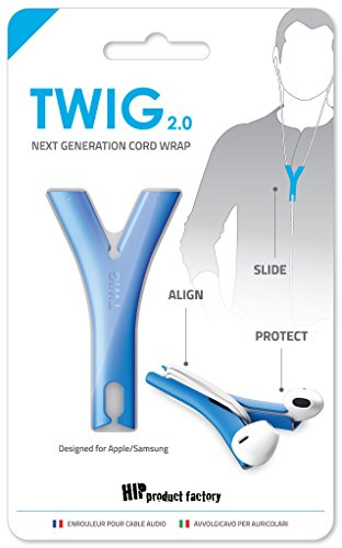 - HIP Product Factory TWIG headphone cord anti tangler for iPhone and Samsung, Blue
