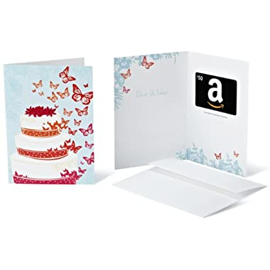 Amazon.com $50 Gift Card in a Greeting Card (Wedding Design)