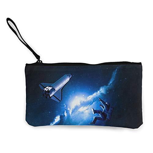 Wristlet Clutch Wallet Solar System Planets Art Canvas Coin Purse Handbag