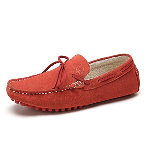 Camel Mens Driving Moccasin House Shoe Color Red Size 43 M EU