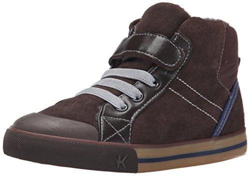 See Kai Run Dane High Top Sneaker , Brown, 13.5 M US Little