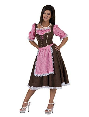 Pierro´s Kostüm Dirndl Josefa Oktoberfest Damenkostüm Kleid Dirndl Bluse Größe 40 42 44 46 48 50 für Karneval, Fasching, Halloween, Motto Party / Nationen, Deutschland, Bayern, Tirol, Dirndl