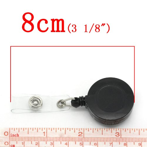 CKB Ltd 20/x negro cord/ón retr/áctil tarjeta ID soporte de Badge Reels with BELT CLIP Ring Pull esqu/í yoyo Pass Holder Recoil