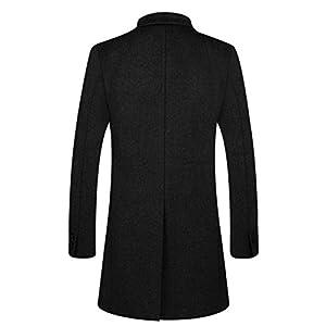 APTRO Men's Winter Stylish Long Slim Fit Luxury Wool Trench Coat