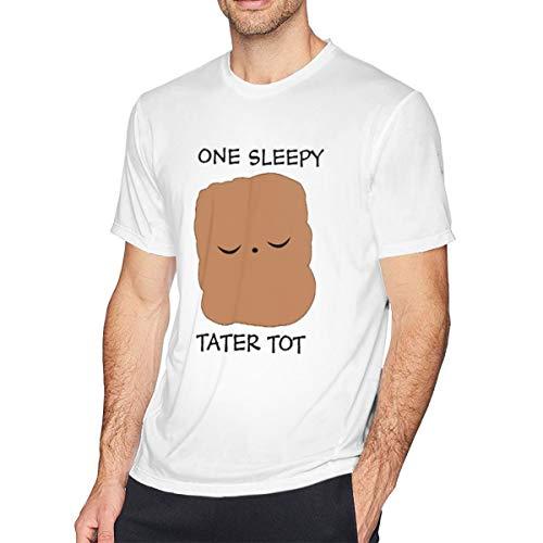 GracefuwuOne Sleepy Tater Tot Men Cool T-Shirt White -