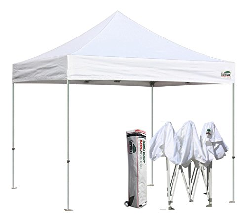 Eurmax Basic 10×10 Pop up Tent Instant Commercial Outdoor Canopy with Wheeled Carry Bag (White)