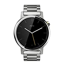 Motorola Moto 360 (2nd Gen.) - Mens 42mm, Silver with Silver Metal