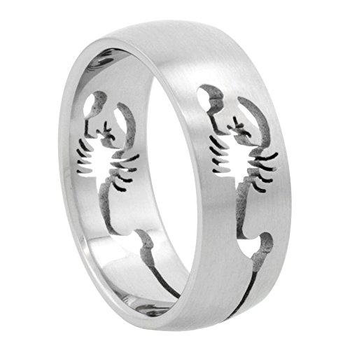 Surgical Stainless Scorpion Wedding Cut out
