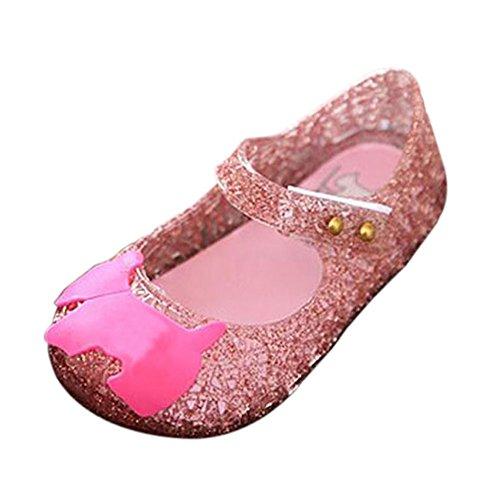 Haodasi Baby Mädchen Jungen Mode Atmungsaktiv Niedlich Weich Gelee Lässige Flache Schuhe Kinder Säugling Sandals Regen Stiefel Pink