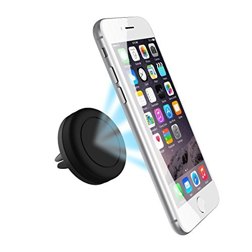 Winzik Magnetic Car Mount Holder for all cell phones and mini tablets including iPhone 6, 6s plus, Gaxlaxy S7, S6 edge (Black)