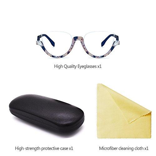 Femmes soleil demi Style Lunettes de soleil Vintage Mode lunettes style petites lunettes Dames cerclées 07 vue de KINDOYO de Dernier rondes 1Ew7B