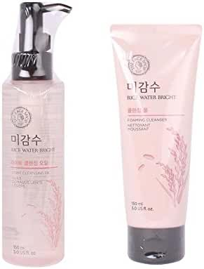 [Total 2Pcs] The Face Shop Rice Water Bright Cleansing Oil + Foam SET