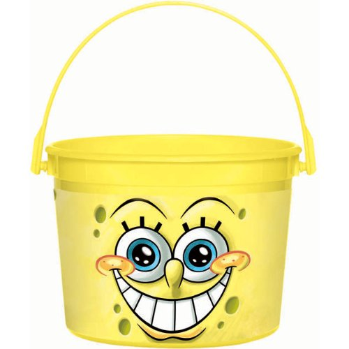 Silly Spongebob Party Favour Bucket, Plastic, 4