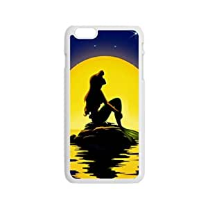Beautiful sea yellow moon Mermaid Cell Phone Case for Iphone 6