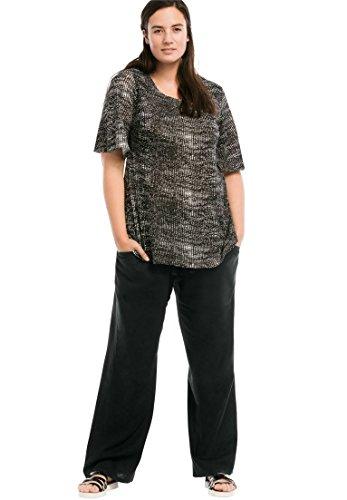 Ellos Women's Plus Size Linen Blend Wide Leg Pants (Wide Leg Linen Blend Pants)