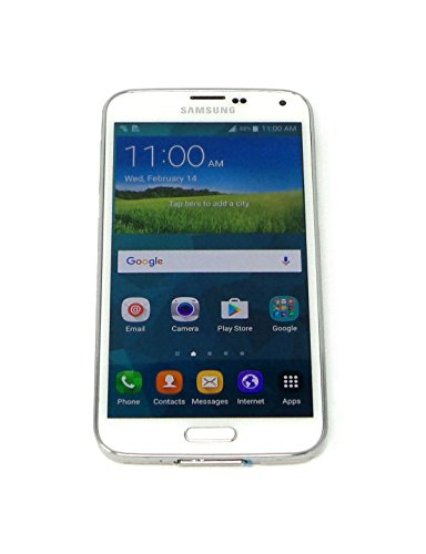 Samsung Galaxy S5 Smartphone 16GB Sprint and GSM Unlocked 4G LTE White 16MP SM-G900P (Certified Refurbished)
