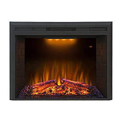 """Valuxhome Houselux 30"""" 750W/1500W, Embedded Fireplace Electric Insert Heater, Fire Crackler Sound by Valuxhome"""