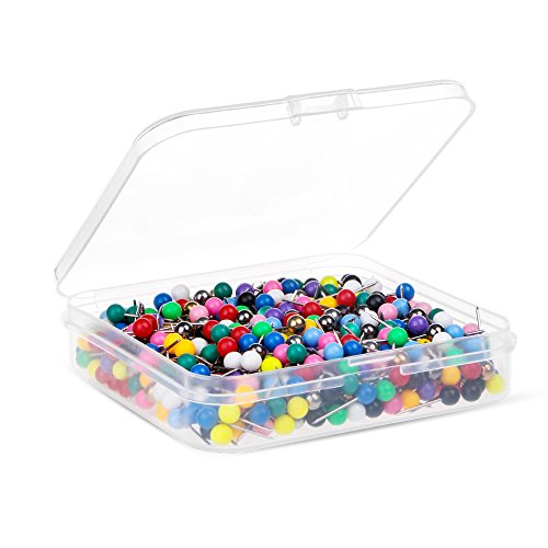 sh Pins 1/8-Inch Head, 15 Mixed Colors, 600-count ()