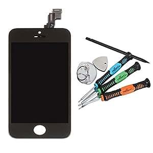 Trop Saint® LCD Pantalla Retina para el iPhone 5S Color Negro COMPLETA Black Incluye Herramientas