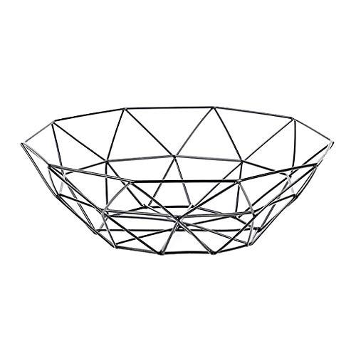 ❤️Ywoow❤️, Geometric Fruit Vegetable Wire Basket Metal Bowl Kitchen Storage Desktop Display ()