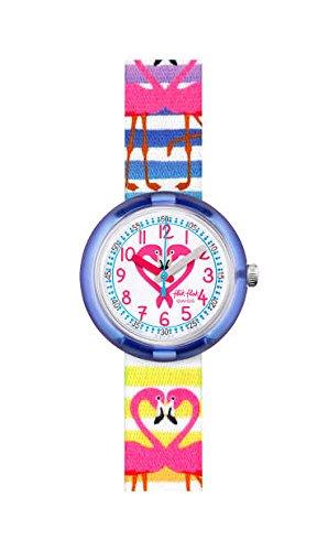 Flik Flak Reloj Analógico para Niñas de Cuarzo con Correa en Tela FPNP029: Amazon.es: Relojes