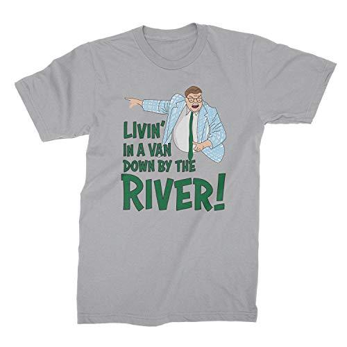 Matt Foley T Shirt Livin in A Van Shirt Farley Foley Tshirt Sport Grey