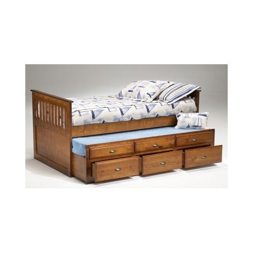 Bernards 3650V Logan Cherry Twin Captain's Bed,