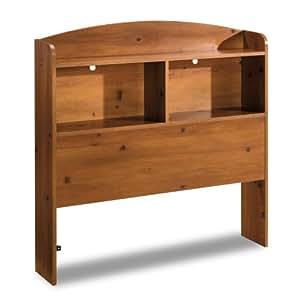 South Shore Logik Collection Bookcase Headboard, Sunny Pine