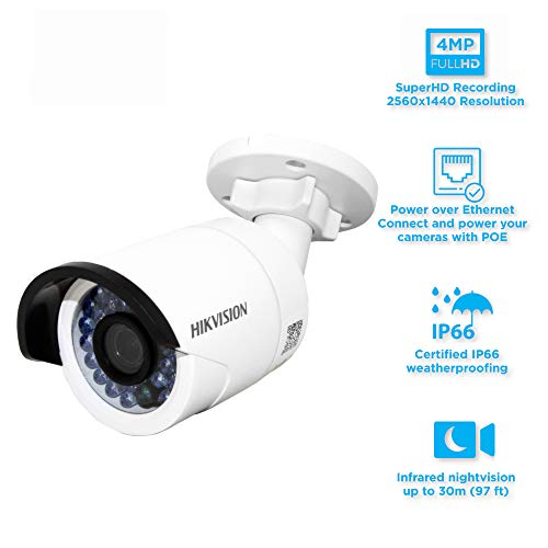 HIKVISION IP Camera DS-2CD2042WD-I Up to 4MP high resolution,4mm Lens - Dual Dome Kit Ir